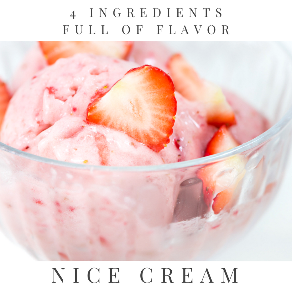 Vegan Strawberry Banana Nice Cream