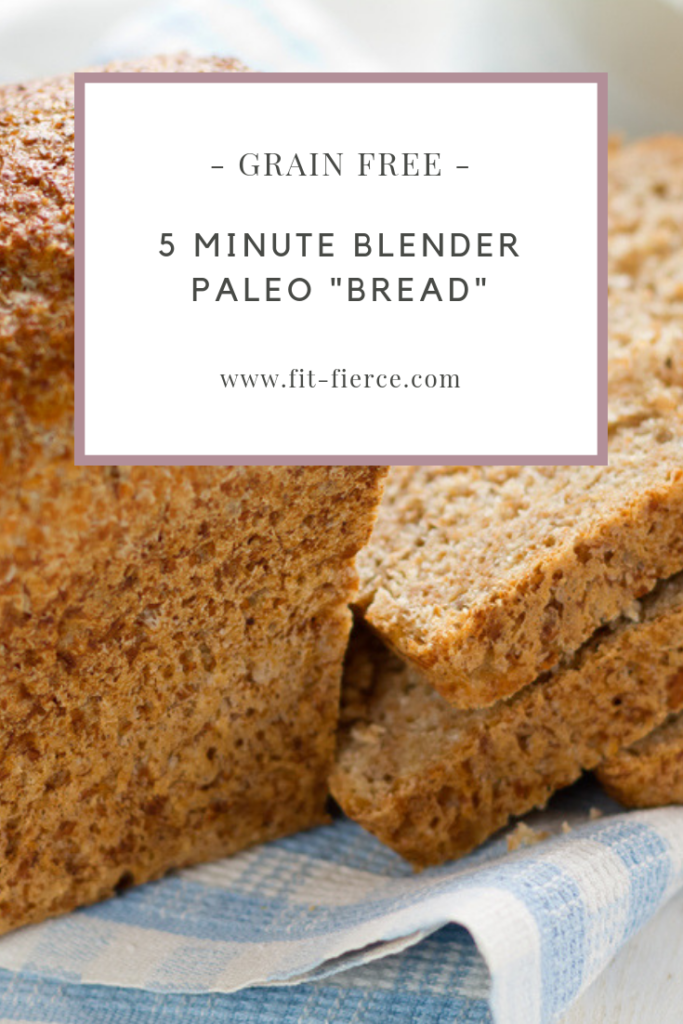 5 Minute Blender Paleo Bread