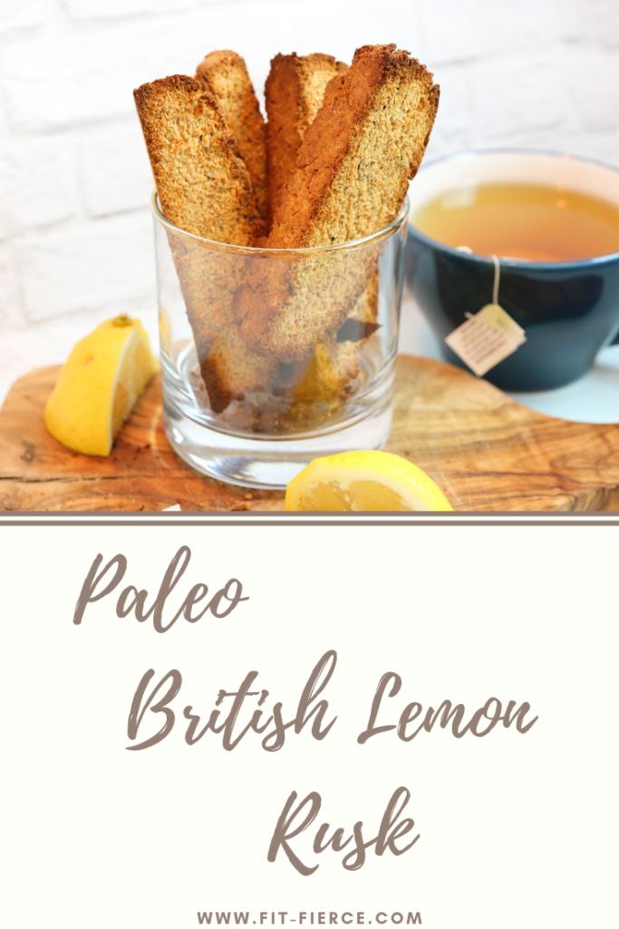Paleo Lemon Rusk